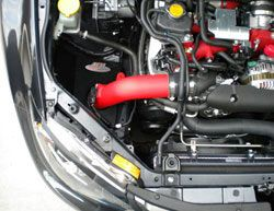 Add up to an estimated 36-hp to a 2008-2014 WRX or WRX STi with an AEM 21-478WR cold air intake