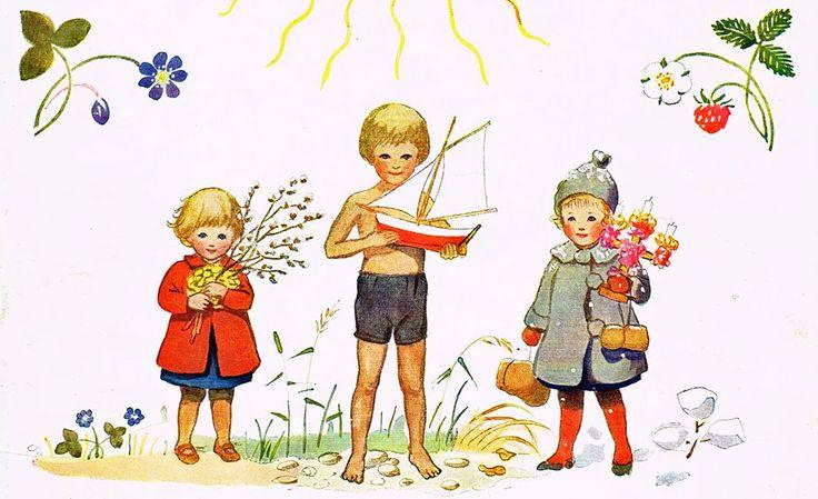 Nordic Thoughts: Elsa Beskow's 'Årets Saga' - 'Around the Year'