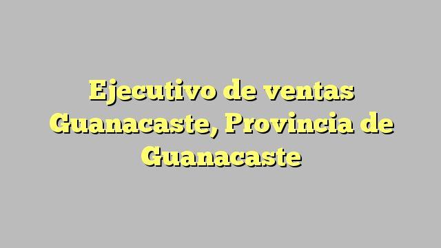 Ejecutivo de ventas Guanacaste, Provincia de Guanacaste
