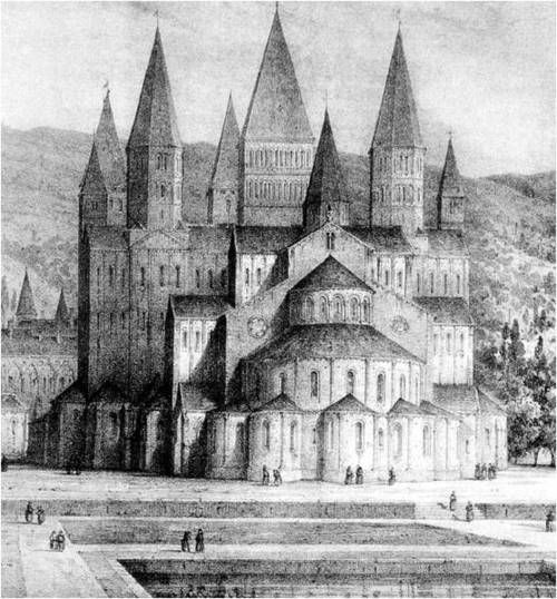 Third Abbey Church of St.-Pierre, Monastery at Cluny, France, c 1100