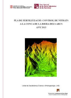 Pla de fertilització : control de nitrats a la conca de la riera dels Arcs : any 2011 / realització: Joan Bach i Plaza, Albert Bach i Pagès  Descripció: 41, 18 p. : il. col., map., gràf. ; 30 cm.  Enllaç permanent a aquest registre: http://catalegbeg.cultura.gencat.cat/iii/encore/record/C__Rb1488858