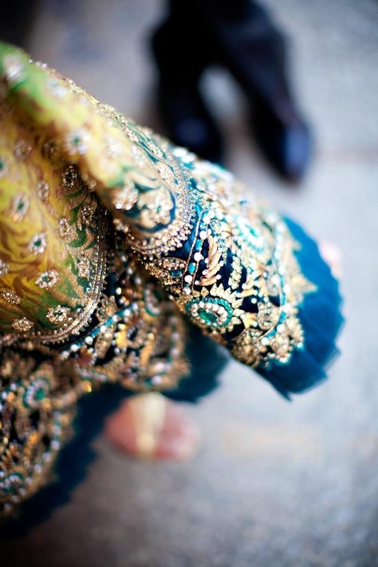 Beautiful sari wedding details