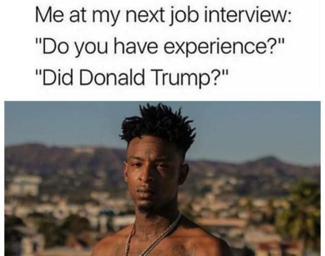 Funniest Trump Transition Memes: My Next Job Interview