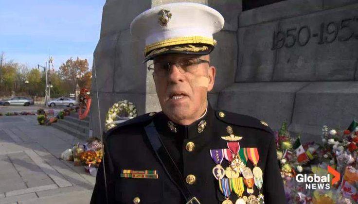 Retired Marine gets threats after guarding Canadian war memorial