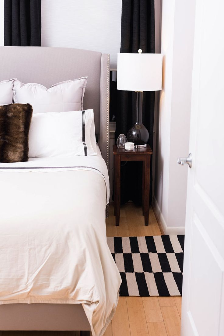 Black and purple master bedroom lace decor