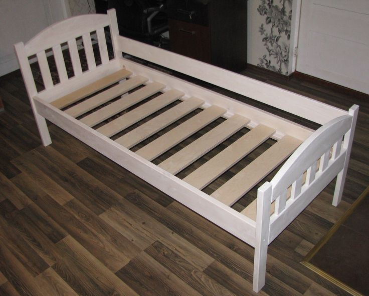 Children's bed 70x180, finished Osmo white oil wax