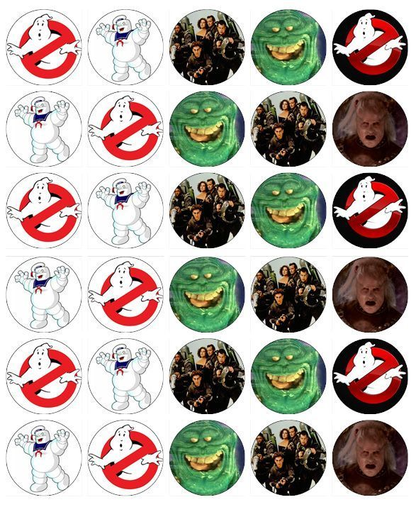 ghostbusters cake topper 27 best collage sheets kiddy things images on 4489