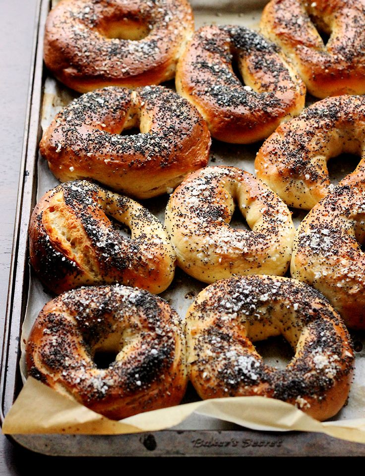 Sea Salt and Poppy Seed Bagels / The Sugar Hit