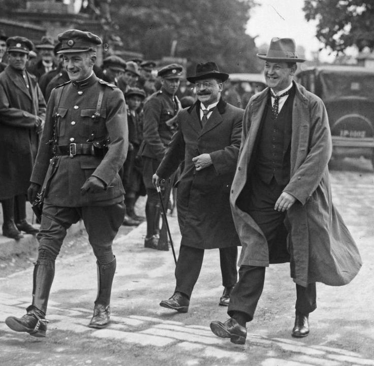 Window on history: Never-before-seen pictures of (r-l) Michael Collins, Arthur Griffith and Richard Mulcahy Ireland on independent historic archive.
