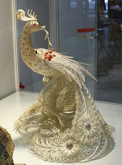 Exquisitely beautiful quill work.