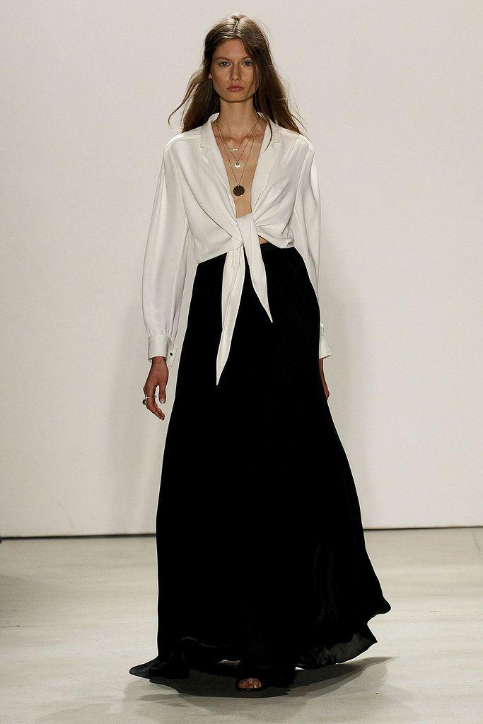 Spring 2016 Trends | Runway | White Shirt Redux | Jenny Packham Spring 2016 | POPSUGAR Fashion