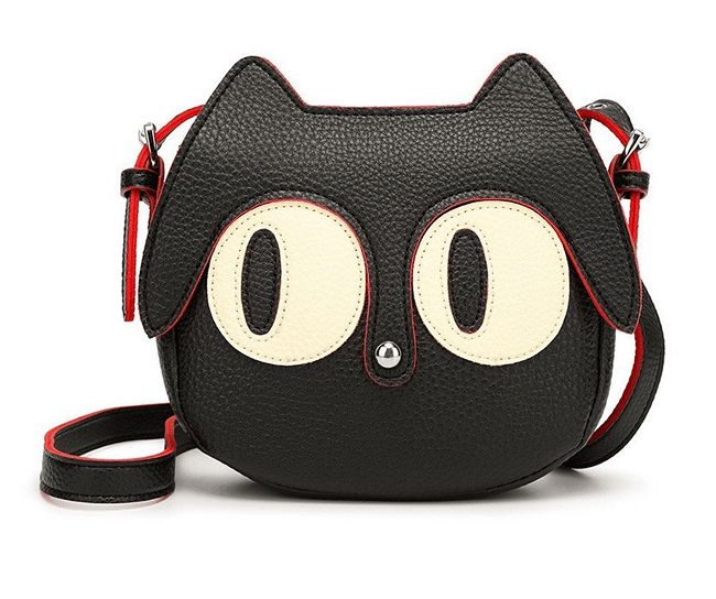 71c6ffd78b5a Cute Cat Face Shaped Sling Bag