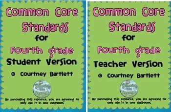 Common Core Standards for 4th grade