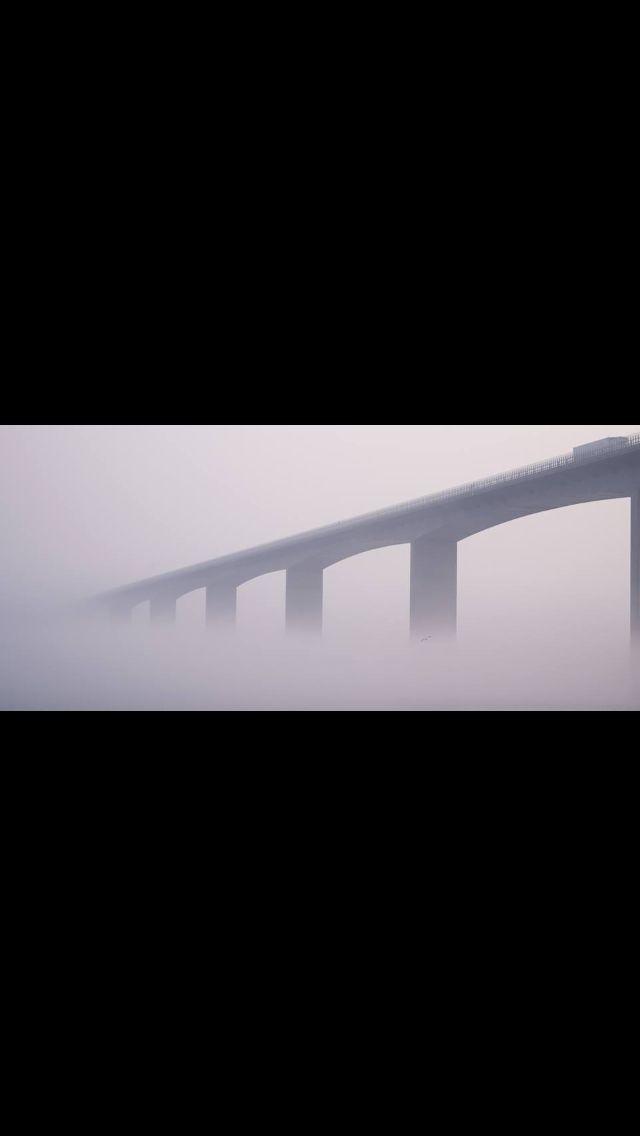 Vejle Fjord Broen på en tåget dag :o)
