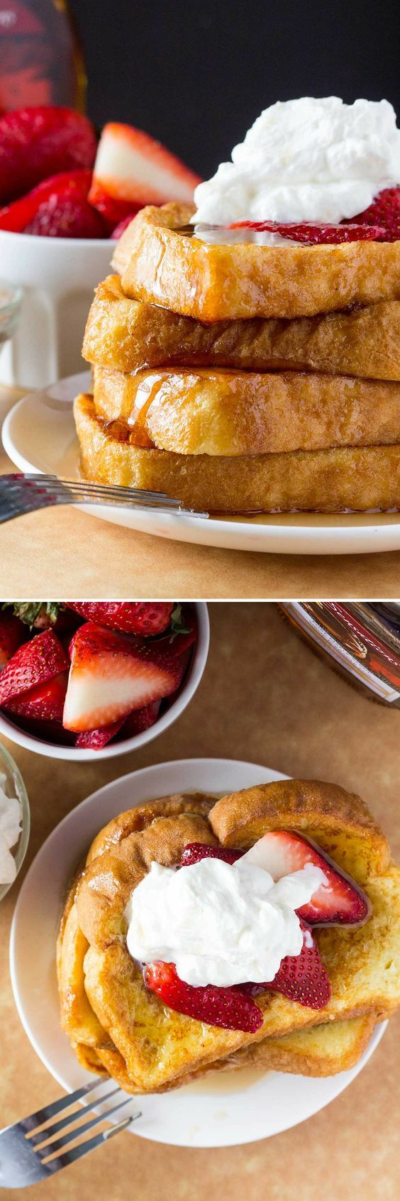 The Best French Toast  Fluffy, Buttery, Golden Brown, Topped With Maple  Syrup
