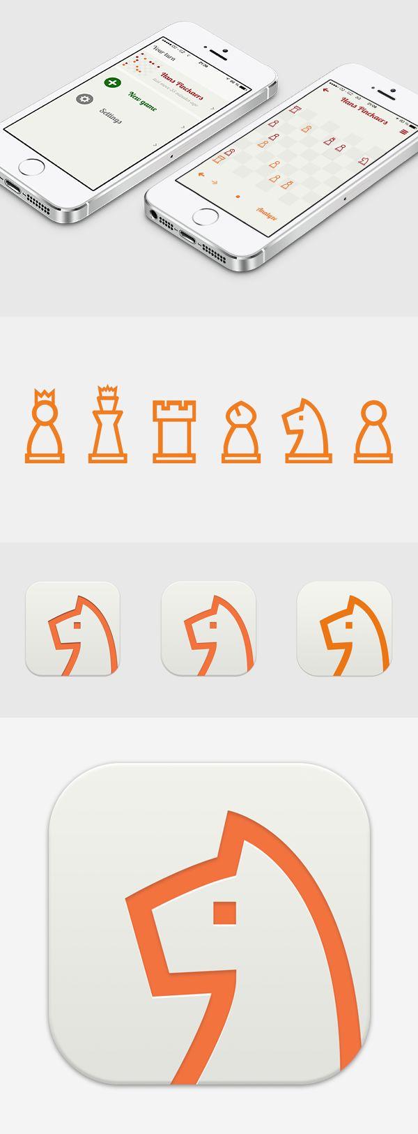 En Passant Chess App by Michael Dolejš, via Behance
