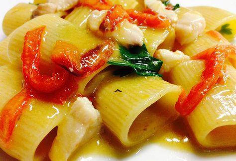 Buon Pranzo Paccheri alla coda di rospo | Food Loft - Il sito web ufficiale di Simone Rugiati
