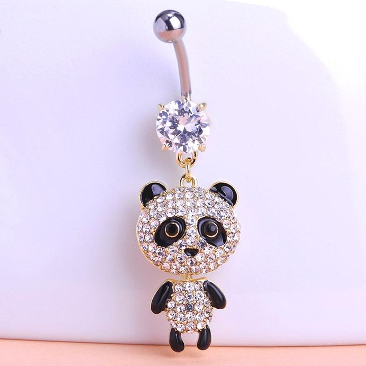 Esmalte Panda Piercing Navel Belly Button Rings Only $14.26  => Save up to 60% and Free Shipping => Order Now! #Ring #Jewelry #woman #fashion