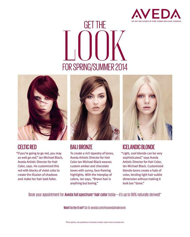 GET THE LOOK: Aveda hair-color for spring/summer 2014