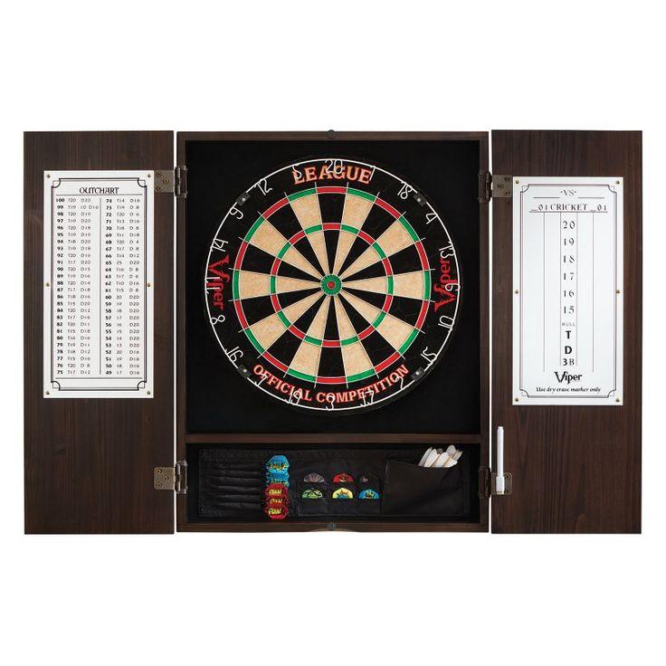 Metropolitan Dart Board Solid Wood Cabinet for Bristle Dart Boards - 40-0407