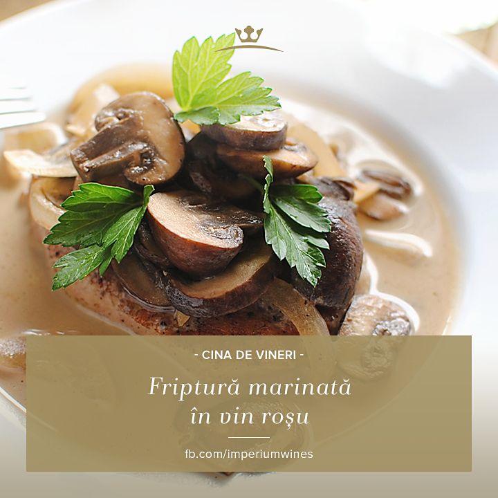 Puține gusturi se compară cu complexitatea unei fripturi marinate și excelent condimentate. Un vin roșu de calitate e necesar - atât pentru marinare, cât și pentru servire: http://rios.ro/vin.html?subcats=Y&features_hash=V6466