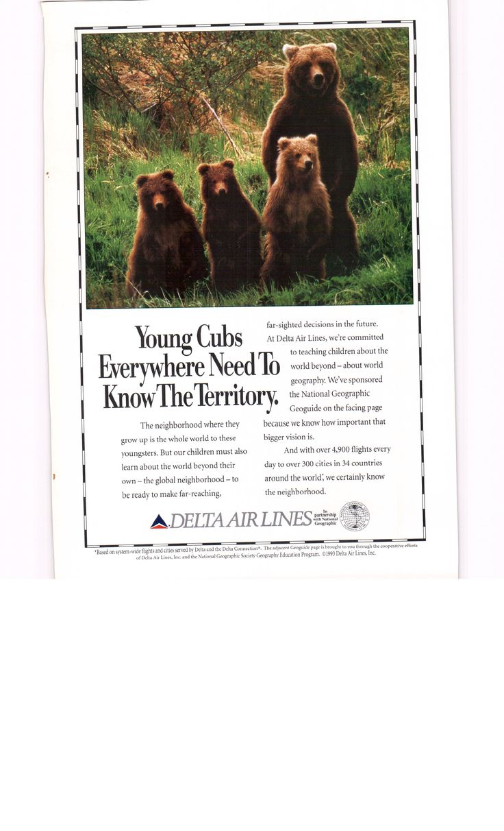 1993 Delta Airlines ad - National Geographic December 1993