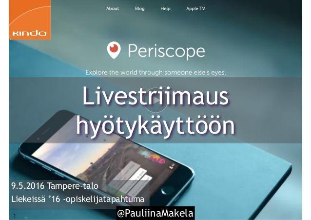 @PauliinaMakela1 9.5.2016 Tampere-talo Liekeissä '16…