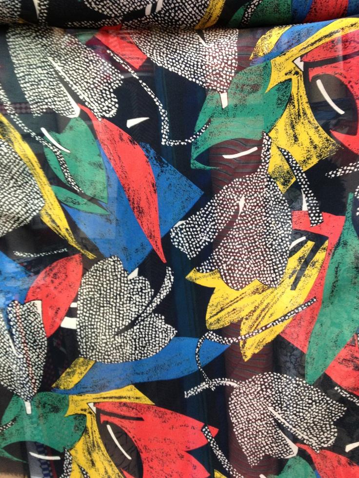 80s silk chiffon  #textiles #fabric #80s #design #fashion #mode #moda #dress