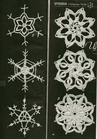 The 9 Best Crochet And Knitted Snowflakes Patterns Images On