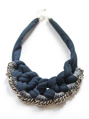 """halskette collier bib """"blue chaingang by Anna Sterntaler - 49€…"""