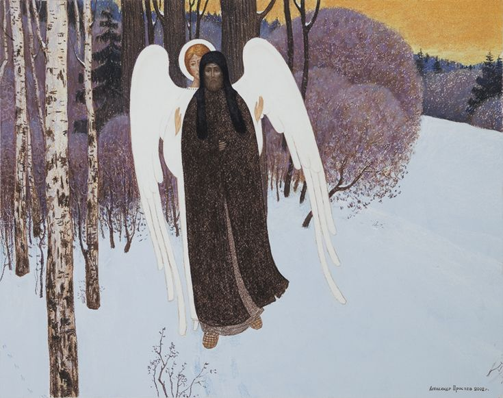 Aleksandr Prostev, Din viata Sfantului Serghie de Radonej