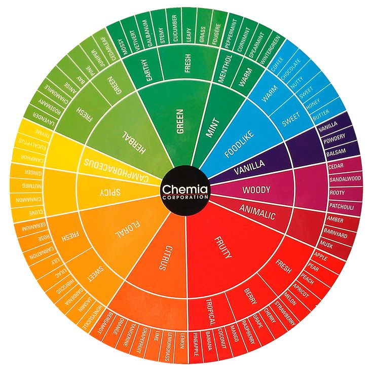 Chemia Fragrance Wheel