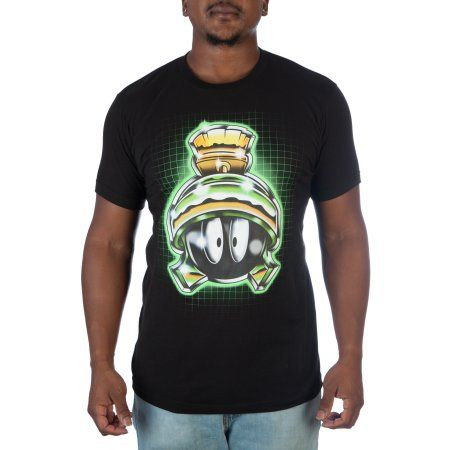 Warner Brothers Marvin The Martian Mens Tee Small, Size: Large, Black