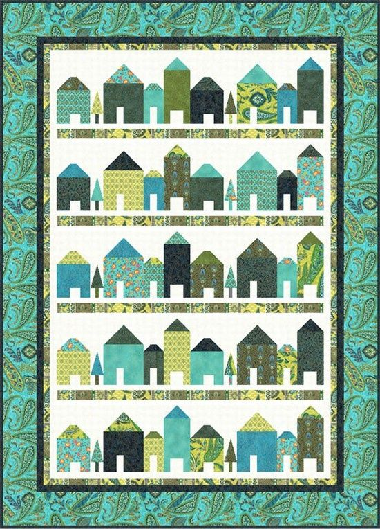 Free pattern from Hoffman Fabrics (I love these little houses right now)..