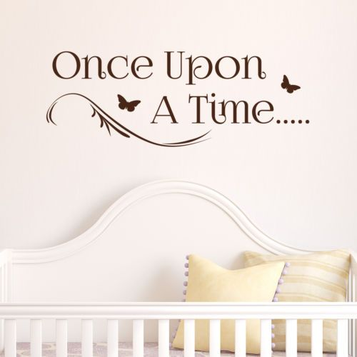 ONCE UPON A TIME, LARGE WALL STICKER, Story, Decal, WallArt, SS1554 in Home, Furniture & DIY,Home Decor,Wall Decals & Stickers | eBay