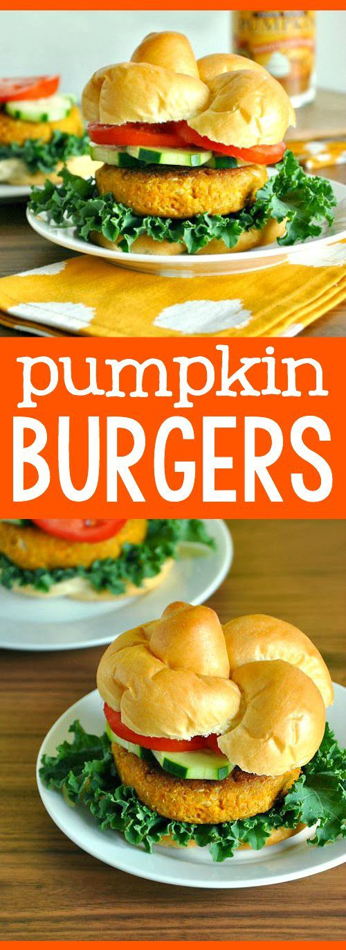 Ridiculously easy pumpkin burgers? Sign me up!