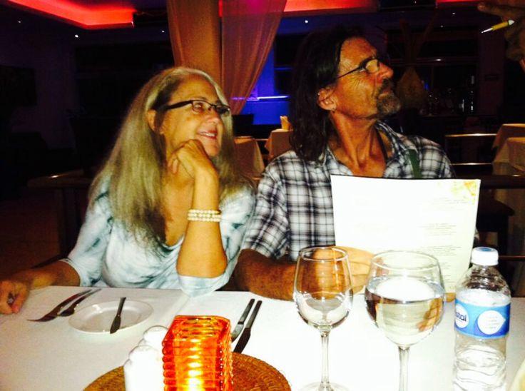Dinner in Cancun.