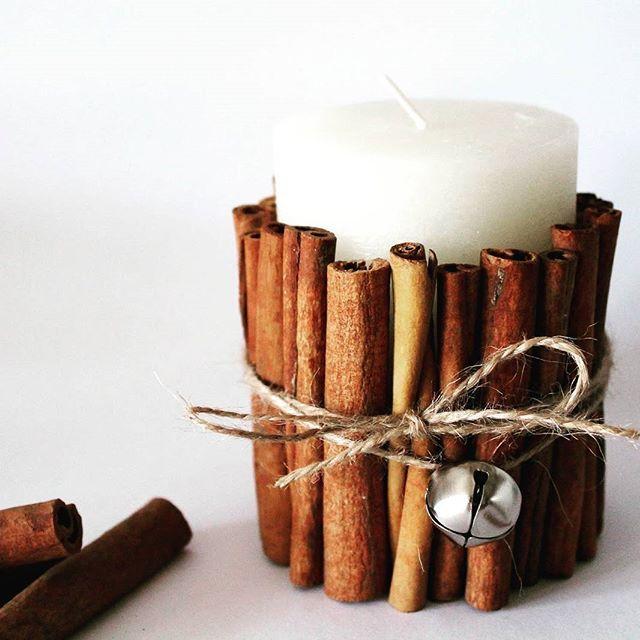Diy Kerze Mit Zimtstangen Doityourself Diy Selbermachen Basteln Selfmade Weihnachten Christmas Candle Kerzen Zimt Christmas Decorations Diy Candles