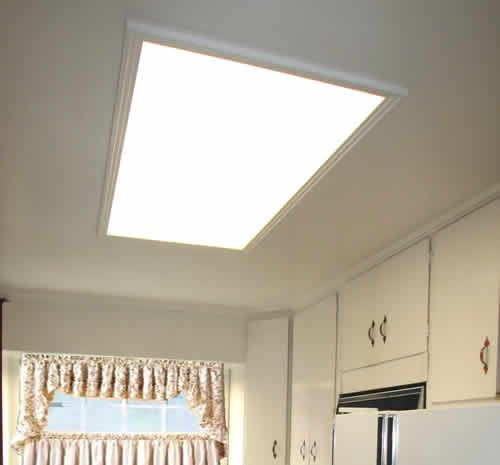 replace+kitchen+flourescent+light+box | Update Old Recessed Light Fixtures with Recessed Can Lights - Learn ...