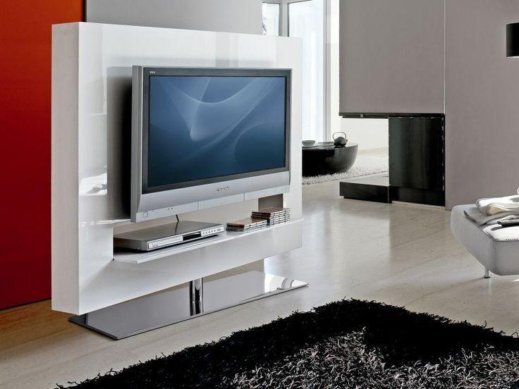 Panorama Bonaldo Swivel TV Stand That Turns 360 Frame Lacquered MDF Base
