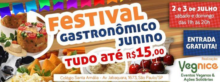 Festa Julina Vegana acontece dias 2 e 3