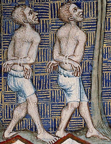 1370. Bible de Sainte-Genevieve. Two men in braies.jpg