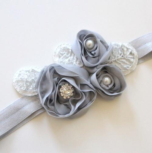 Fancy Chiffon Rosette Lace Headband