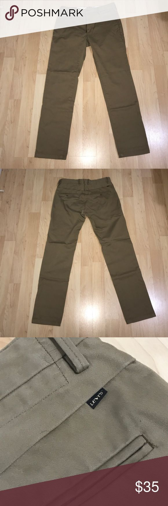 LEVIS MENS KHAKIS PANTS (W32xL32) Barely worn pants. Got them few years back for khaki day at work and only worn it once since. Not really a khaki kind of person. These are great condition, no stains or rips. 9/10 Levi's Pants Chinos & Khakis