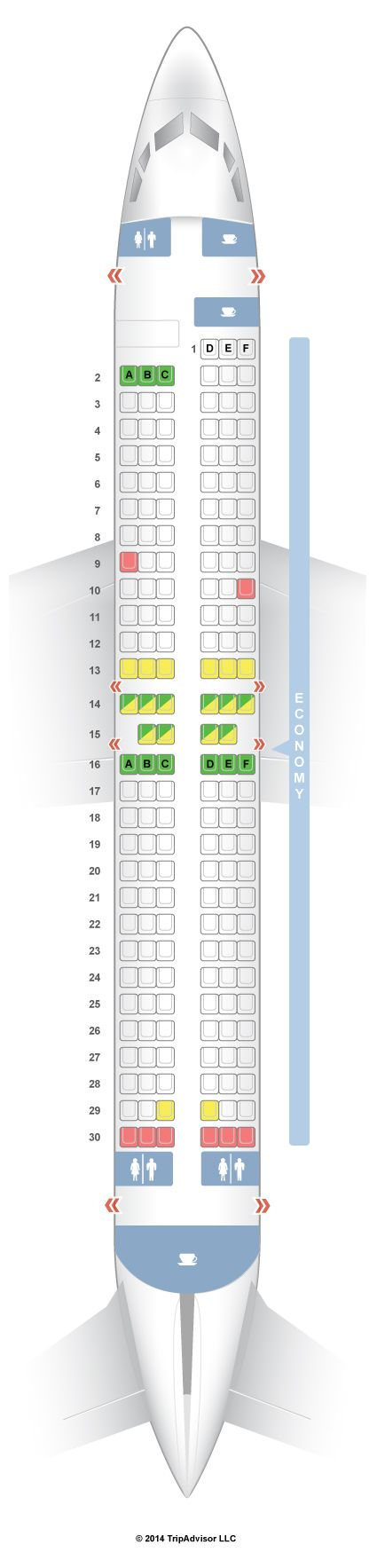 SeatGuru Seat Map Southwest Boeing 737-800 (738)