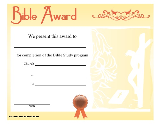 11 best academic award certificates images on pinterest for Bible study certificate templates