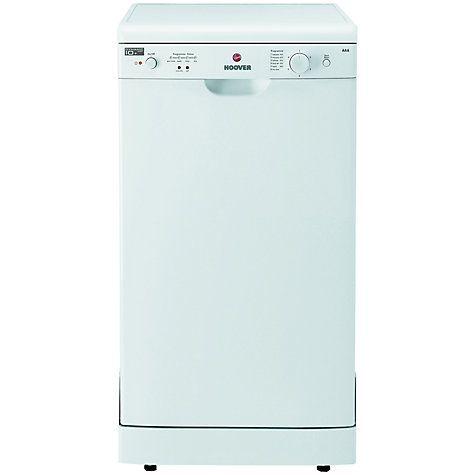 Buy Hoover Nextra HEDS1064 Freestanding Slimline Dishwasher, White Online at johnlewis.com