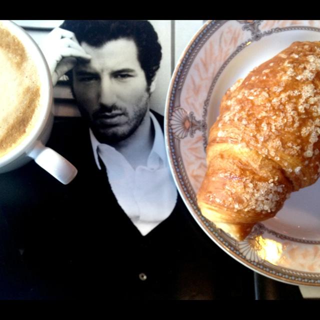 Breakfast with the wonderful Francesco Scianna