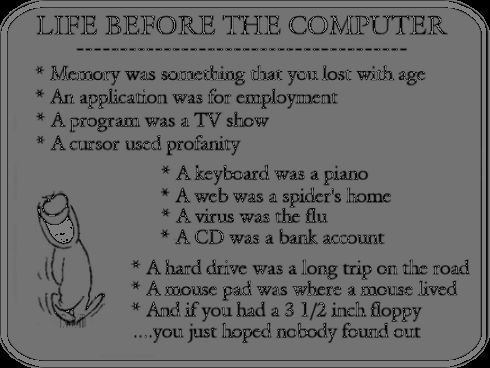 life before the computer...