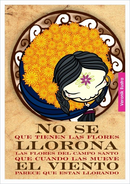 Illustration based on lyrics from quot la llorona quot mexican song by chavela